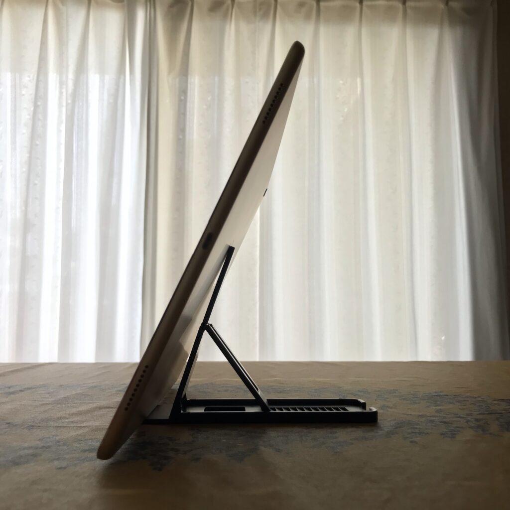 iPadランドスケープ立てる