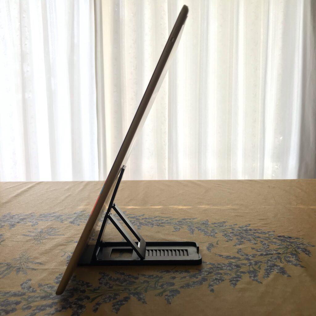 iPadポートレート立てる